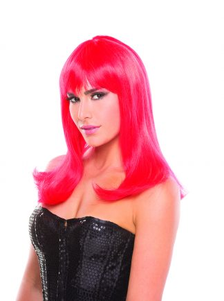 Be Wicked Solid Color Hollywood Wig Red