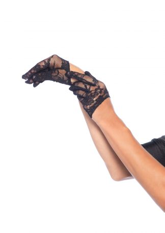 Mini Cropped Lace Gloves O/S Black LA-375122001
