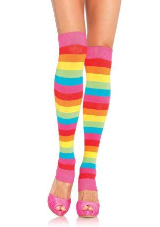 Rainbow leg warmers O/S MULTICOLOR