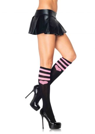 Sweetheart athletic knee socks