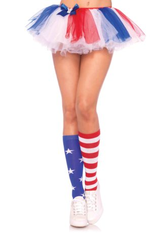 Stars and Stripes knee highs O/S MULTICOLOR
