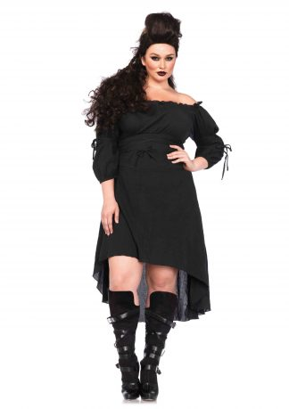 Queen Gauze High Low Peasant Dress With Tie Up Waist And Sleeves