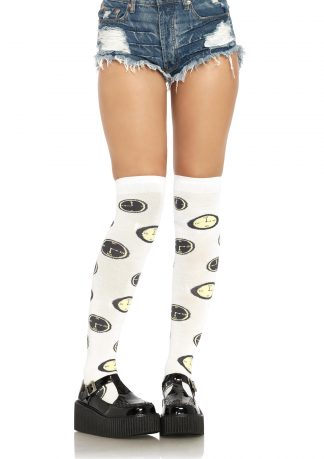 Tick Tock Over the Knee Socks LA-6633