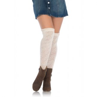 Crocheted Over the Knee Socks LA-6924