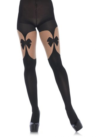 Illusion Bow Garterbelt Tights LA-7732