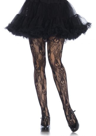 Rose Skull Lace Tights LA-9751