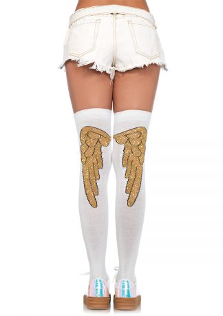 Lurex Angel Wing Over the Knee Socks LA-6343