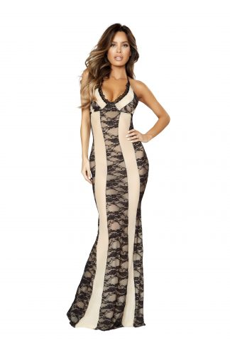 Two-Tone Gown Dress RM-LI204