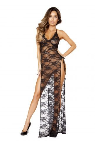 Gown with Tied Straps RM-LI205