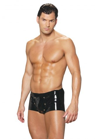 V9209 Men's Vinyl Shorts With Break Away Front EM-V9209