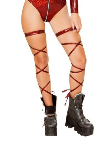 "100"" Broken Glass Leg Strap with Attached Garter RM-3629"