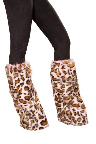 Pair of Pink Leopard Leg Warmers RM-4889