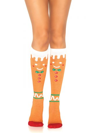 Gingerbread Man Knee High Socks