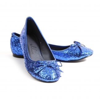 016-MILA-G Adult Glitter Flat With Bow