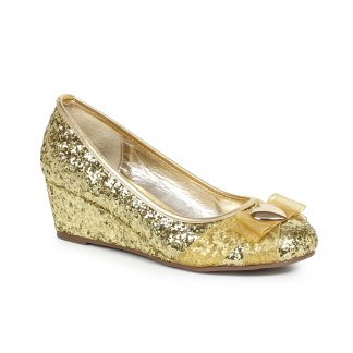 018-PRINCESS Women'S Glitter Princess Shoe With Heart Décor