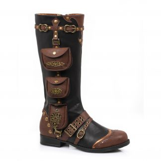 181-SILAS 1 Inch Womens Steam Punk Boot