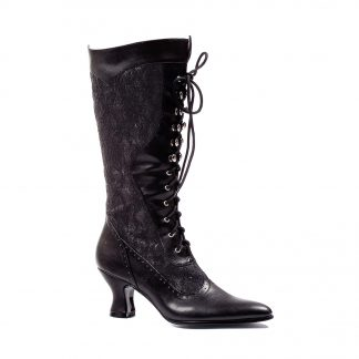 "253-REBECCA 2.5"" Heel Boot With Lace"