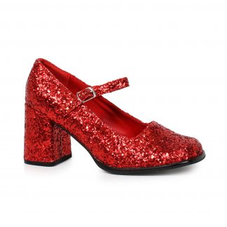 "300-EDEN-G 3"" Heel Mary Jane Glitter Shoes"
