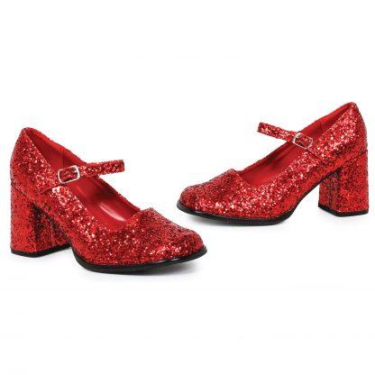 """300-EDEN-G 3"""" Heel Mary Jane Glitter Shoes"""