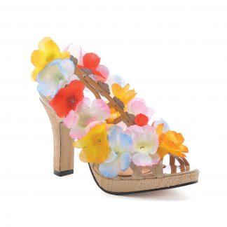 "402-LUAU 4"" Heel Sandal W/ Flower"
