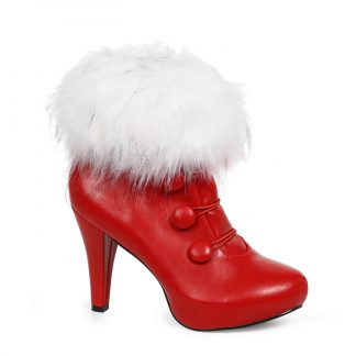 "414-CLAUS 4"" Womens Bootie With Faux Fur"
