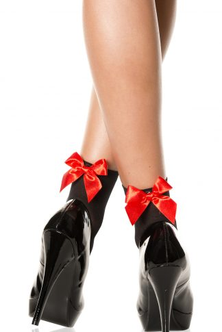 Opaque Anklet With Satin Bow