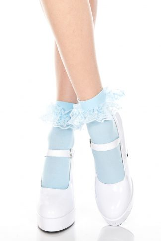Ankle Hi With Ruffle Trim