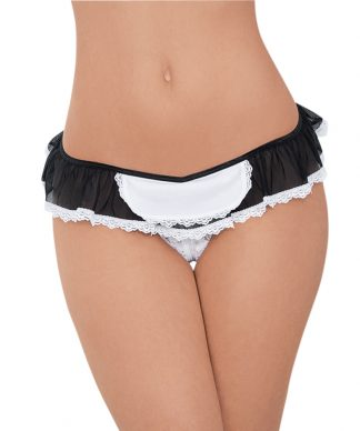 56125X Queen Crotchless Maid Panty