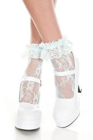Lace Ruffle Ankle Hi