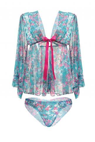 Mai Tai Kimono Sleeve Robe & Panty Set