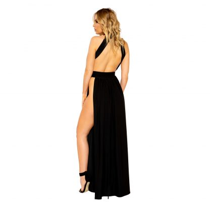Open Leg and Large Cutout Maxi Length Dress