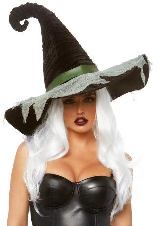 Hocus Pocus Velvet Ruched Witch Hat