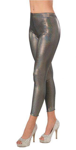 Silver Futuristic Leggings