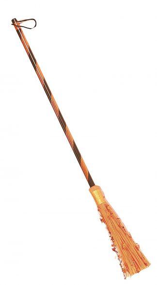 Metallic Orange Witch Broom