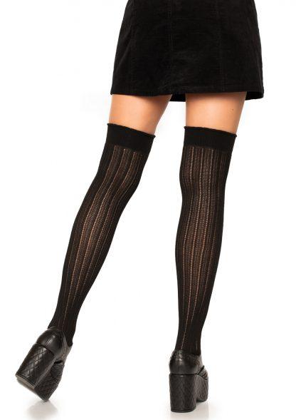 Spandex Rib Knit Over The Knee Socks