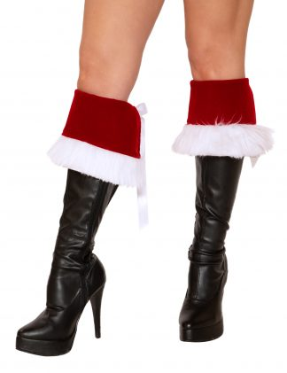Pair of Boot Cuffs with Faux Fur Trim