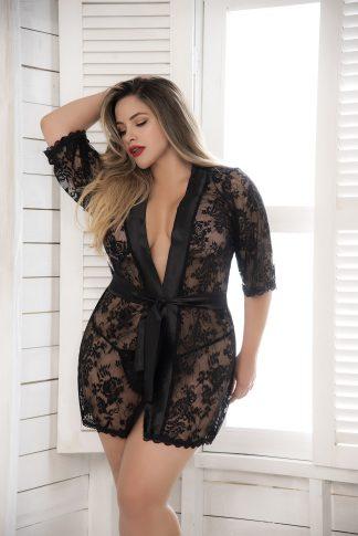 7115X Lace Robe