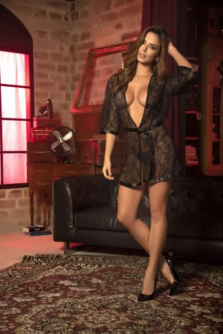 8443 Robe with Matching G-String