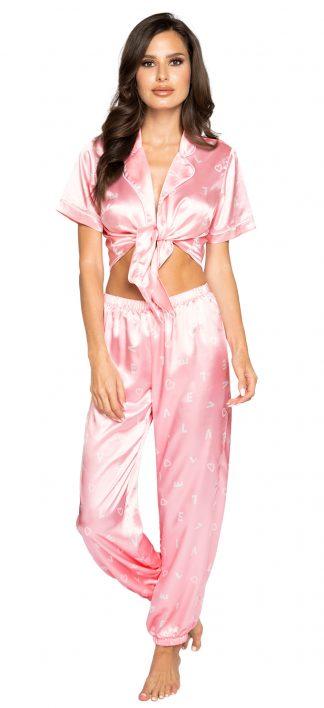 Roma Costume LOVE Satin Pajama Pant Set