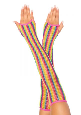 Rainbow Net Arm Warmers
