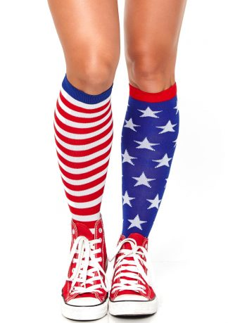 Stars And Stripes Knee Highs