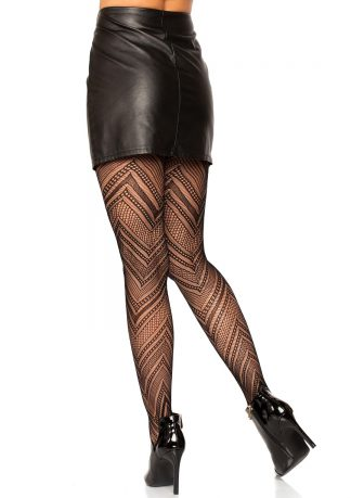 Chevron Net Tights