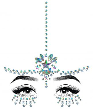 Karma Adhesive Face Jewels Sticker