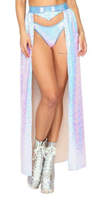 Open Frontage Sequin Skirt