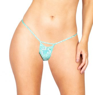 1pc Shimmer Iridescent Cutout Bottoms
