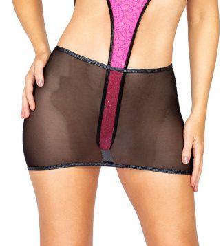 1pc Sheer Mesh Skirt