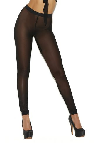 11029 Mesh Leggings with Elastic Waist Band