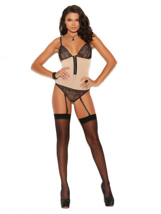 77074 Lace and Mesh Clip On Teddiette
