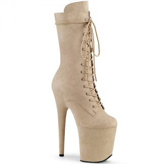 FLAMINGO-1050FS Lace-Up Front Mid Calf Boot with Side Zip