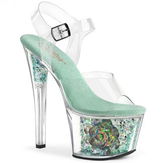 SKY-308CF Ankle Strap Sandal with Crystal Flower